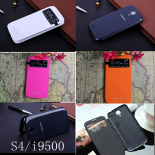 For Samsung Galaxy S4 IV i9500 Dormancy sleep function cover flip battery case Touch screen S view mobile phone bag