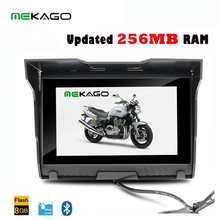 5 Inch HD 800x 480 Motorcycle GPS Navigator – Waterproof Design + Bluetooth + 4GB Internal Memory + FM + Maps