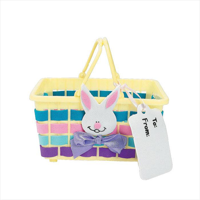 Preschool Art Easter Basket : Pcs lot handmade rabbit basket craft kit easter crafts