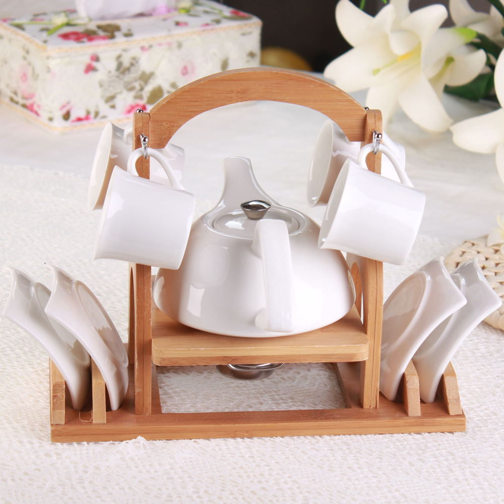 European foreign trade ceramic coffee cup and saucer scented tea teapot Leisure Suit milk tea to send the shelf(China (Mainland))