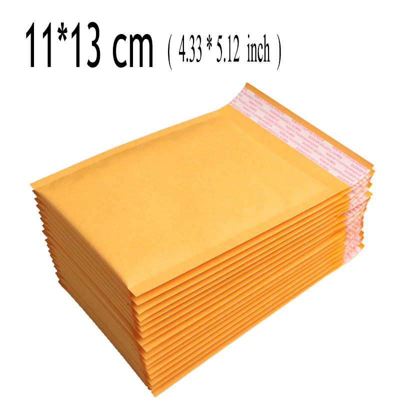 11*13cm (4.33*5.12 inch) 100Pcs CRAFT Poly Padded Envelopes Mailing Bags Bulle Bubble Mailers Padded Envelopes Sobres Acolchados(China (Mainland))