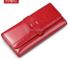 Free shipping Large Oversize Woman 100% Leather Wallet Genuine Cowhide Leather Credit Card Holder Wallets Long Wallet Purses(China (Mainland))