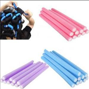 5 Pcs Hot Sale Delicate Soft Foam Rollers Tool DIY Easy Hair Rollers Hair Styling Tool Wholesale Random color(China (Mainland))