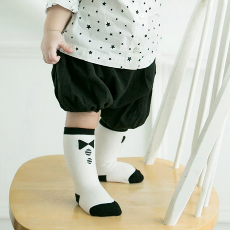 Children Baby Boy Girl Socks Baby Cotton Socks Kids Knee High Cute Socks Tight Stockings