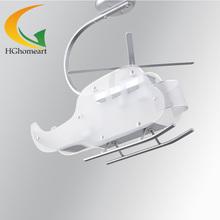 Hot children's room modern minimalist bedroom Led chandeliers children creative helicopter LED lamp E27