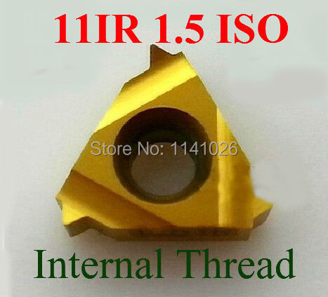 11IR 1.5 ISO Carbide Threading Inserts Internal Threading Insert Indexable Lathe Inserts Threaded Cutter Lathe Tool