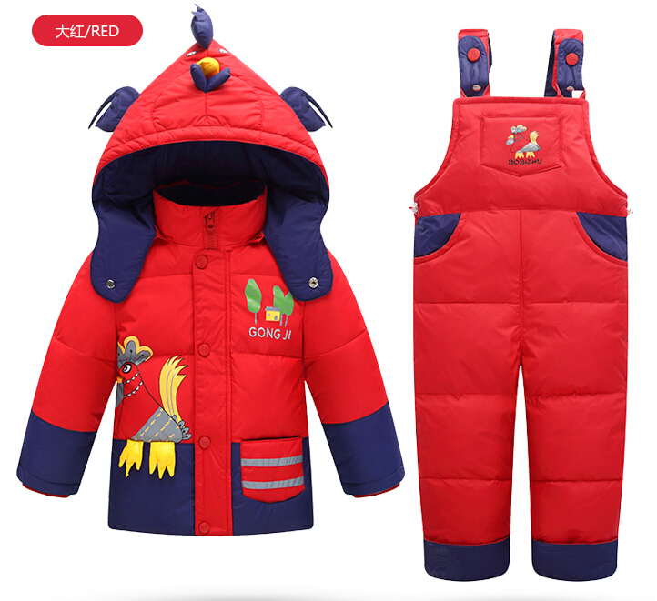 Winter Children thick warm Parka white duck jacket+pants sets suit Boys girls Baby Coats inverno infantil vestidos - Ibaymall pregnant baby clothing store
