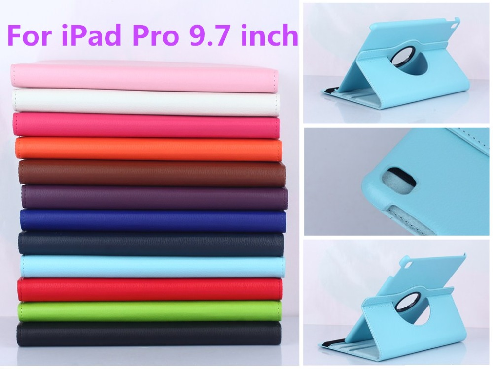 Tablet Case For iPad Pro 9.7 inch Case 360 Rotation PU Leather Case for Smart Cover iPad Pro 9.7'' Flip Case with Stand Function(China (Mainland))