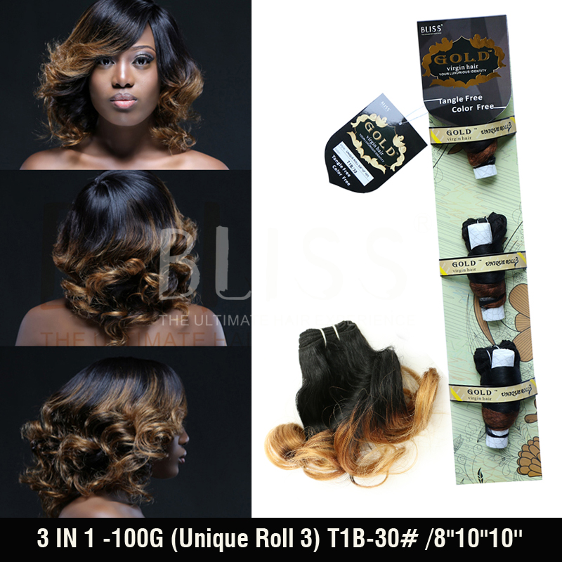 7A Unprocessed Bliss Hair 3 IN 1( 8-10-10)100G,Unique Roll 3 2#4# Hair Extension Wholesale Weave Queen Hair Product<br><br>Aliexpress