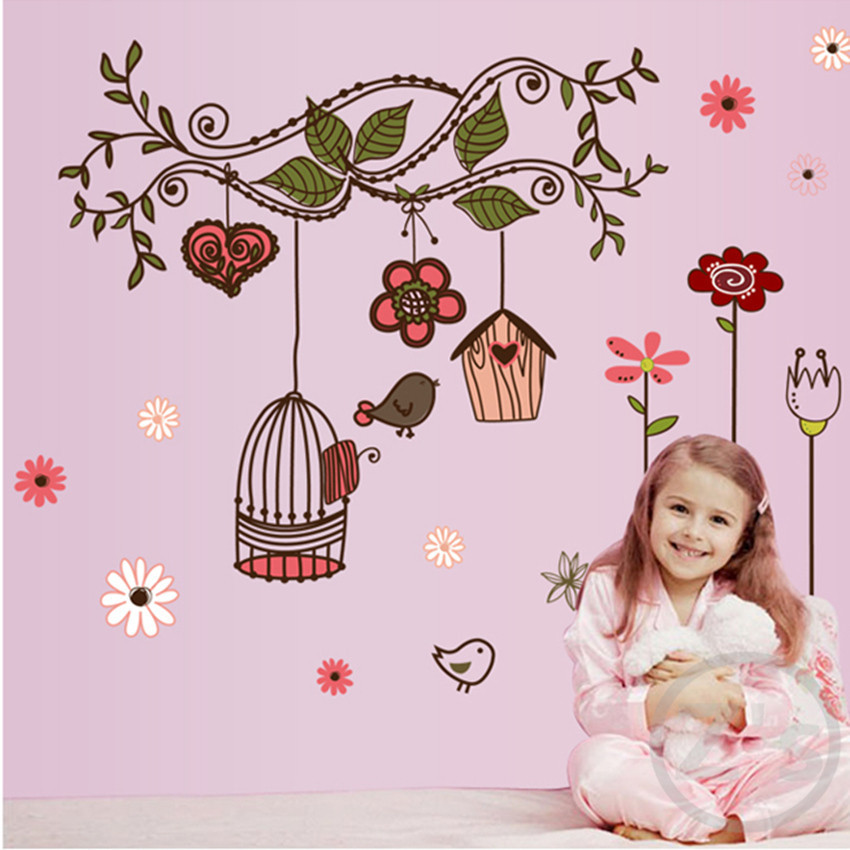 wall sticker for kids room role of children's home decoration diy adhesives for Headboard wardrobe Refrigerator furniture AY7102(China (Mainland))