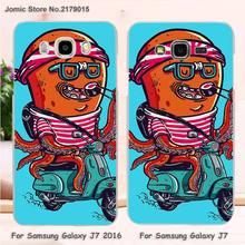 Riding electric car The octopus design transparent clear hard Cover Case for Samsung Galaxy J7 J710 J5 J510 J3 C7 C5 E7 E5(China (Mainland))