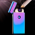 2015 Hot Excellent 5 Styles USB Rechargeable Flameless Electric Double Arc Windproof Cigar Cigarette Lighter Free