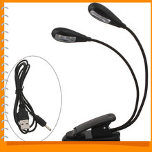 Adjustable Clip Mini Portable LED Book Reading Light Lamp Flexible USB LED Novelty Light for Laptop PC Notebook(China (Mainland))