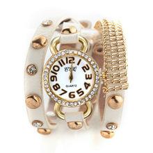 The lowest prcie Bracelet leather jewelry watch,New arrival relogio feminino quartz watch,Pendant gold chain women digital watch