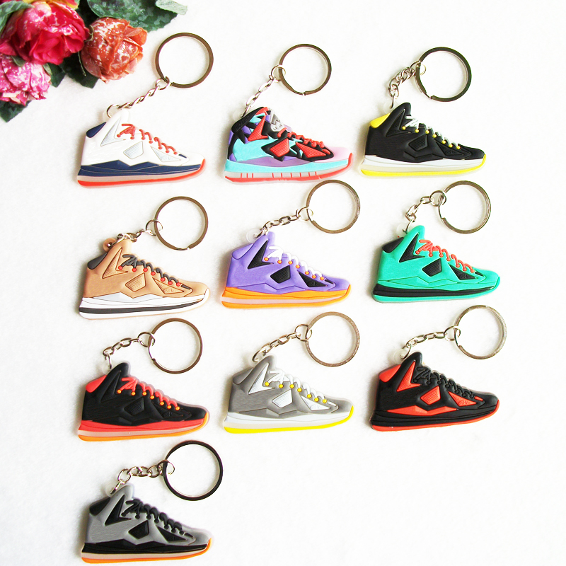 Cute Lebron 10 Key Chain, Sneaker Keychain Key Chain Key Ring Key Holder for Woman and Girl Gifts Souvenirs(China (Mainland))