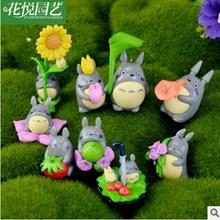 (9pcs/lot) My neighbor Totoro figure gifts doll resin miniature figurines Toys 5cm PVC plactic japanese cute lovely anime