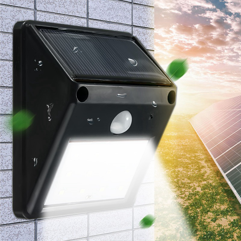 Mising Waterproof 12 LED Solar Light Solar Power PIR Motion Sensor LED Garden Light Outdoor Pathway Sense Solar Lamp Wall Light(China (Mainland))