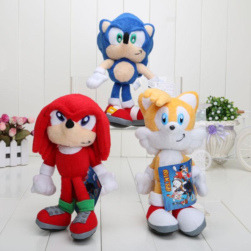 20cm 3pcs/lot Sonic the Hedgehog Plush Toys Ultimate Flash Sonic Hedgehog Plush Doll Good Gift For Kids(China (Mainland))