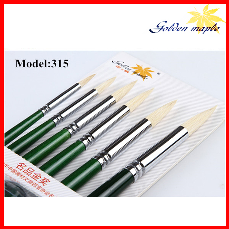 6pcs/set  Art Brush Cleaner Tools Natural Bristle hair Brushes Art Acrylic Paints Brushes for Students Artists<br><br>Aliexpress