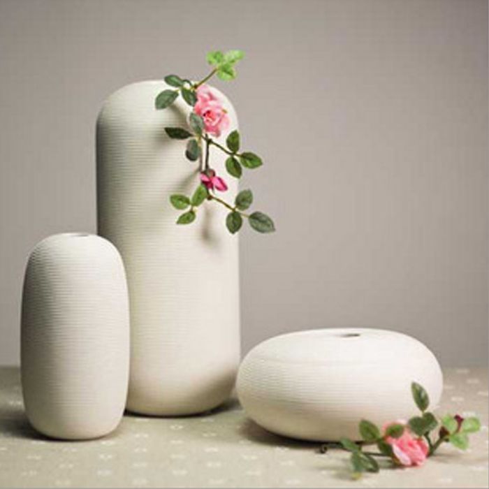 3 pcs White Ceramic Flower Vase Luxurious Home Wedding Decorative Porcelain Table Vases Set Best