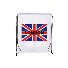 Четыре pcs/lot флаг соединенного королевства шнурок рюкзак лондон сумки обуви водонепроницаемой хранения рюкзак