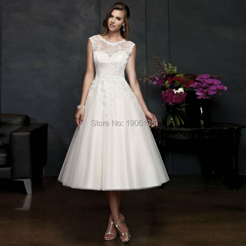 Compare Prices on Tea Length Wedding Dresses Size- Online Shopping ...