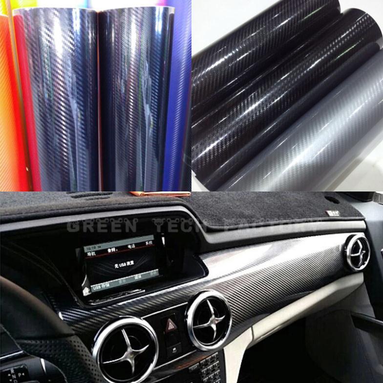 DIY 1.52*20M Car Sticker 5D High Glossy Film Change Color Auto Exterior Carbon Fiber Accessories Interior Film Black<br><br>Aliexpress