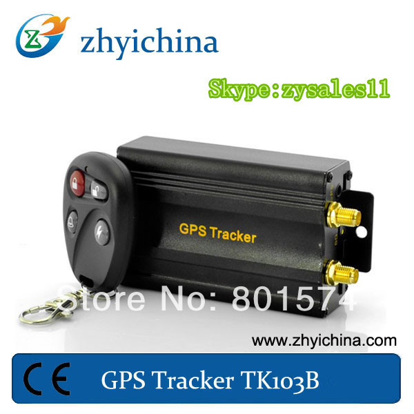 Real time vehicle gps tracking device with acceleration alarm Quad Band software Small Gps Tracker with backup battery TK103B(China (Mainland))