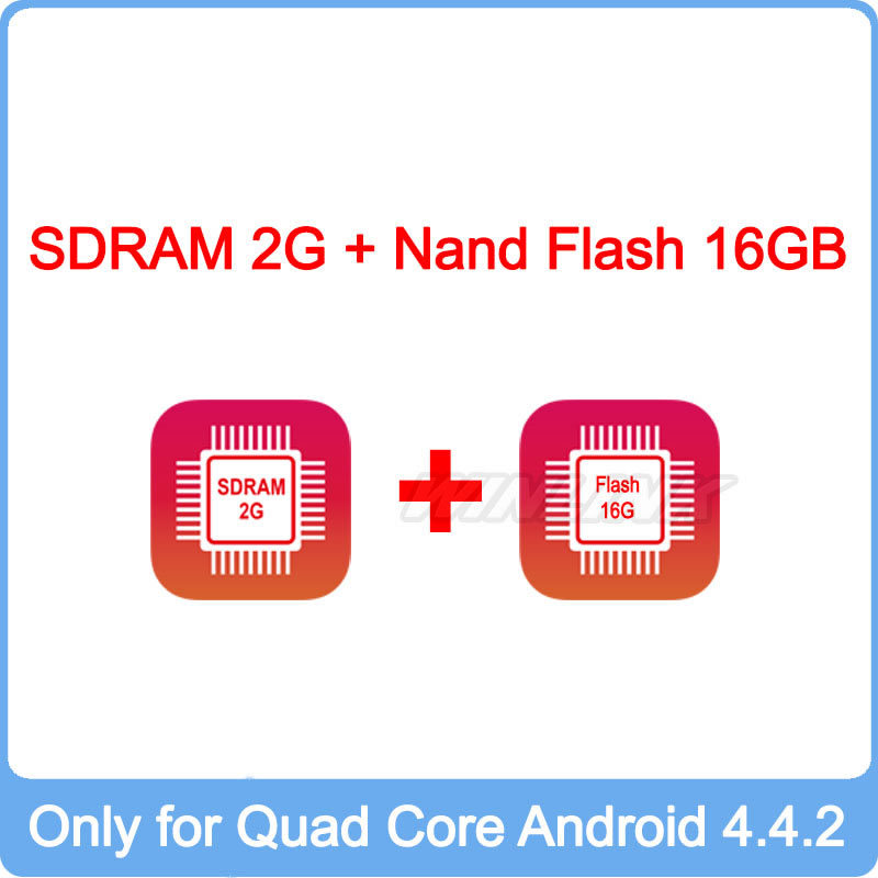 Built-in 2G SDRAM + 16GB Nand Flash, this Item just Sell with Our Quad Core Android 4.4.2 Car DVD(China (Mainland))