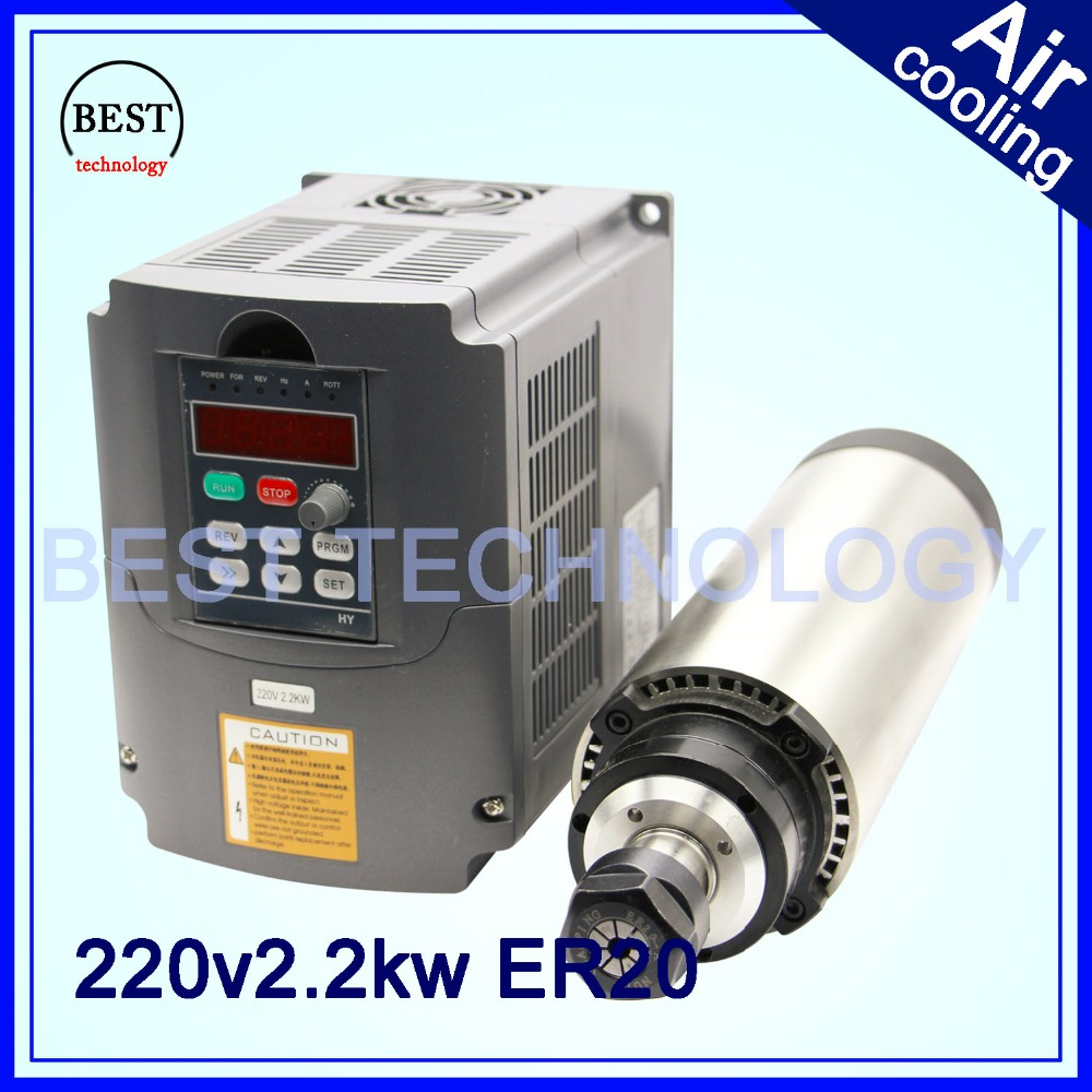 2 2kw 220v er20 cnc router spindle motor air cooled for Best router motor for cnc
