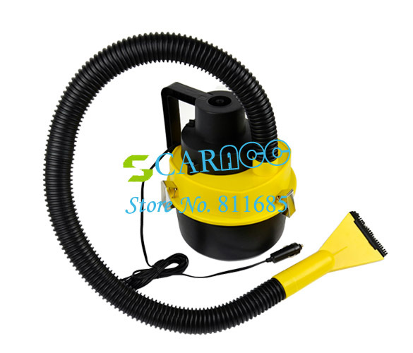 New Portable Car Dust Cleaner Vacuum Cleaner Collector Inflator Air Compressor Wet&Dry  8743