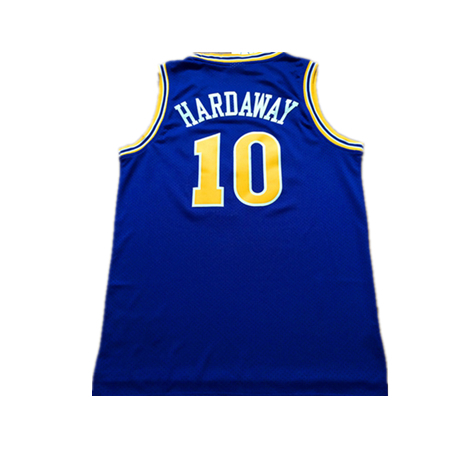Free shopping 2015 retro jerseys youth Golden State GSW Anfernee Hardaway Penny SG throwback basketball jersey blue #10(China (Mainland))
