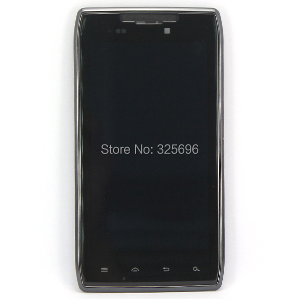 "For Motorola Droid Razr XT910 LCD Display + Touch Screen with Digitizer + Bezel Frame Assembly without ""verizon"""