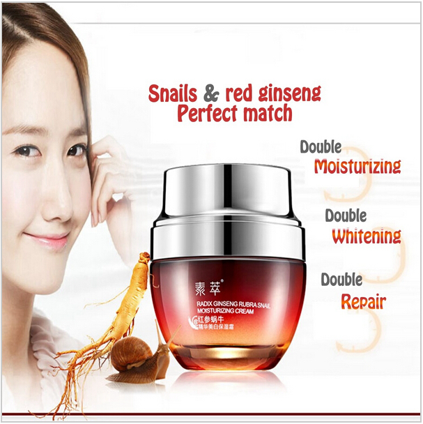 Red ginseng Snail Cream Brand Face Care day night cream & Face Treatment Reduce Scars Acne Moisturizing Cream Anti Aging(China (Mainland))