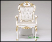 2015 Russian Style Golden Furniture High Back White Living Room Chair Modern Wedding Party Chairs Decorations(China (Mainland))