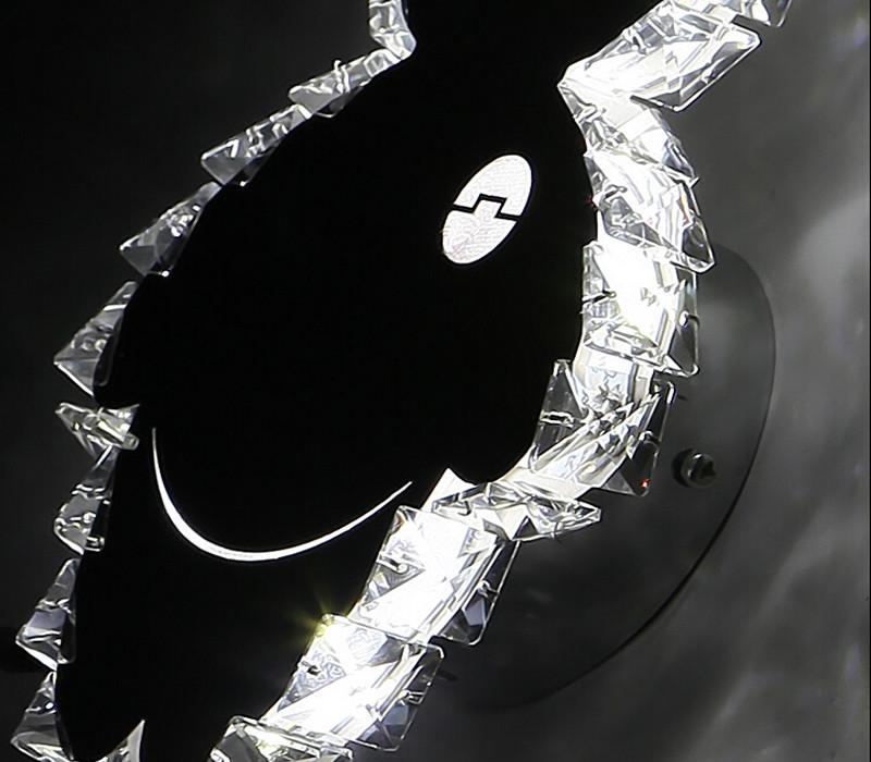 Купить ZX Современный Творческий Мультфильм Акриловые Кристалл СВЕТОДИОДНЫЕ Бра Симпатичные животных ПРИВЕЛО Чип Блеск Света Стены Спальни Прикроватные Детская Комната лампы