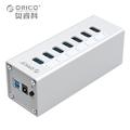 Aluminum USB 3 0 HUB ORICO 7 Port HUB with 12V2 5A Power Adapter and 3