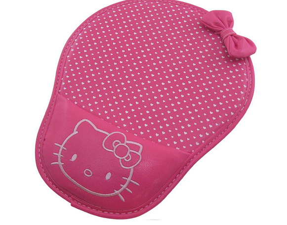 Kawaii NEW Embroidery Hello Kitty 21.5*27CM Computer Mouse Pad Mat Hello Kitty Face Mouse MAT With Wrist Holder Wrister PAD MAT(China (Mainland))