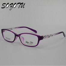 Optical Eyeglasses Frame Women Spectacle Frame Computer Eye Glasses For Women's Transparent Lens Female Armacao Oculos de YQ065