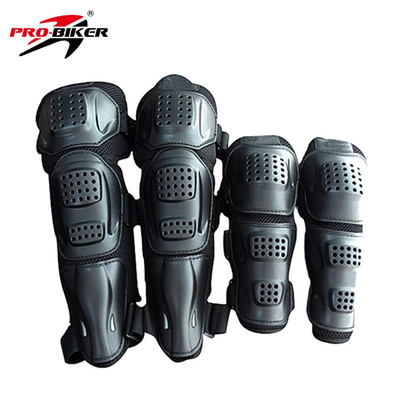 PRO-BIKER Motorcycle Riding Kneepad Motocross Off-Road Dirt Bike Elbow & Knee Protective Gear Set Brace Pads Protector Guard