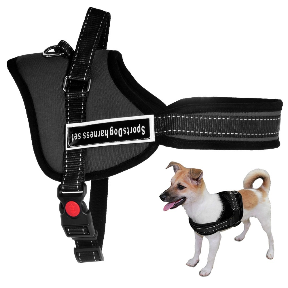 XS-XL Sports Dog Harness Metal D-ring No Pull Nylon Dog Harness Vest with Hand Strap for Small and Large Dogs Pitbulls(China (Mainland))