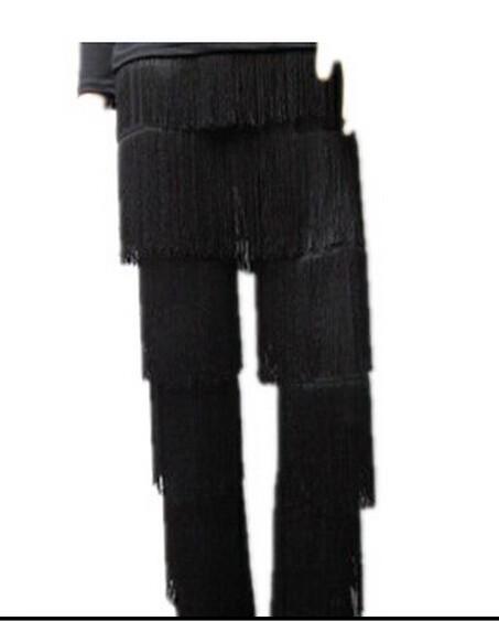 DB23543 fringe dance pants-1