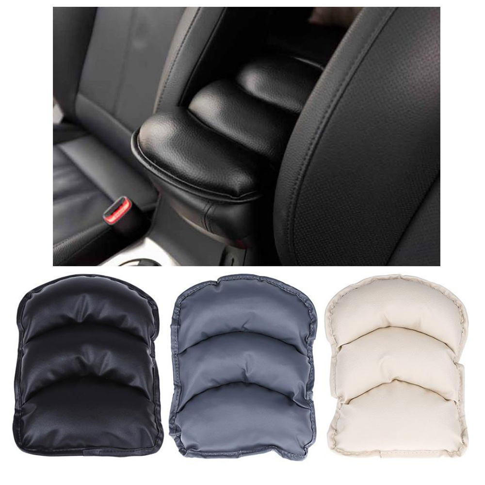 Hot Sale Universal Car Auto Armrests Cover Vehicle Center Console Arm Rest Seat Box Pad Protective Case Soft PU Mats Cushion(China (Mainland))