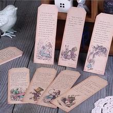 18pcs Alice's Adventures in Wonderland design Bookmark as birthday gift(China (Mainland))
