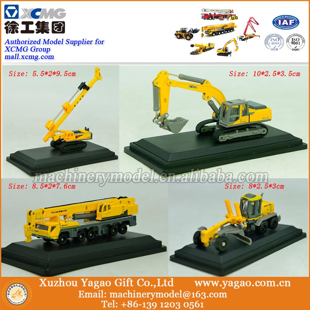 1:87 Scale Model, Diecast, 4in1 Construction Model, Excavator, Crane, Grader, Driller Miniature Model(China (Mainland))