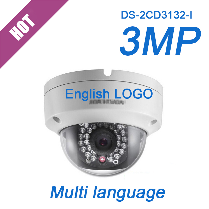english firmware DS-2CD3132-I HD 3MP IP camera PoE onvif DWDR Mini Dome network CCTV Security camera(China (Mainland))