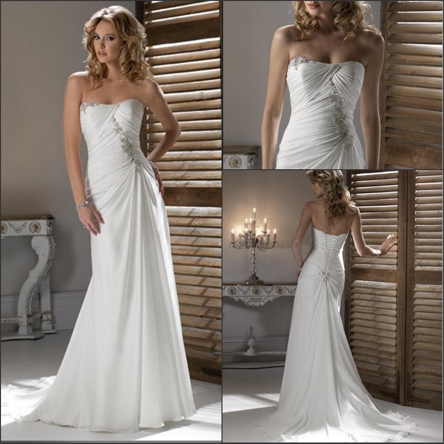 Popular ivory casual beach wedding dress buy popular ivory for Ivory casual wedding dresses