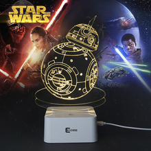 Creative Gifts Star Wars Lamp 3D Night Light Robot USB Led Table Desk Lampara as Home Decor Bedroom Reading Nightlight(China (Mainland))