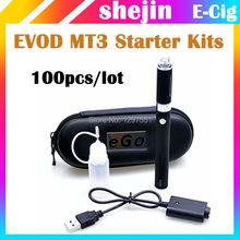 100 шт./лот EVOD MT3 starter kit mt3 evod электронной сигареты комплекты evod mt3 Распылителя 650 мАч 900mah1100mah батареи VS ЭГО CE4(China (Mainland))