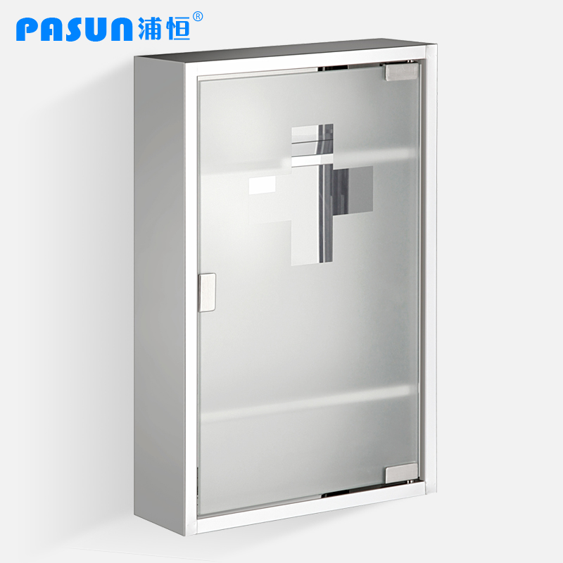 free shipping stainless steel bathroom cabinet pyxides scrub glass